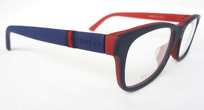 d49a45f843 GUCCI MEN S FRAME Glasses GG9108 F Blue Red 54-17-145 MADE IN ITALY ...