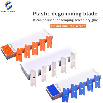 100pcs Double Edged Razor Blades Razor Scraper Window Glass Car Cleaning Tool