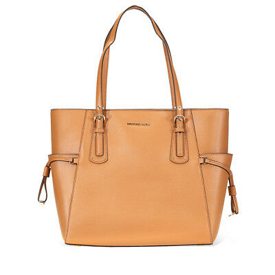51972a8c5400 Michael Kors Voyager Textured Crossgrain Leather Tote- Acorn 30H7GV6T9L-203