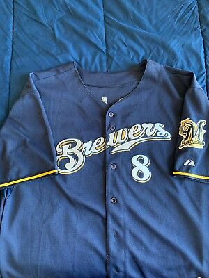 MILWAUKEE BREWERS Ryan Braun Men's Majestic MLB Authentic Collection Jersey 56