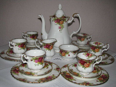 Royal Albert Old Country Roses Kaffeeservice 21tlg ( 6 Prs )