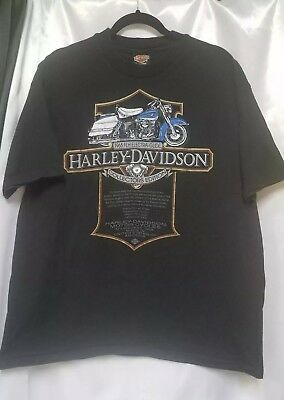 Harley Davidson Shirt Size XL Collectors Edition 1965 FHL ELECTRA-GLIDE Arkansas