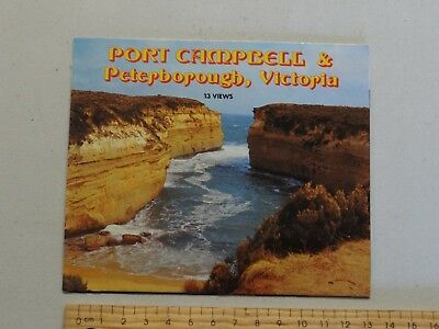 1 x VINTAGE MULTI VIEW POSTCARD  PORT CAMPBELL & PETERBOURGH VICTORIA AUSTRALIA