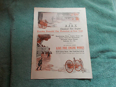 VERY SCARCE—Ajax Fire Engine Works Catalog and Brochure