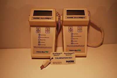 Welch Allyn 675 Oral Thermometer (2 T/r)  With Calibration Key And Probe Covers