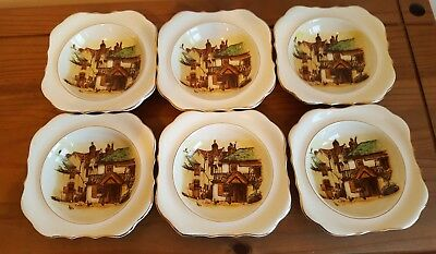 "Vintage Lancaster & Sons ""Four Ways Inn"" Set of 6 Dishes"