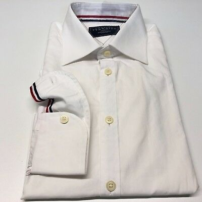 Mens CHARLES TYRWHITT White Shirt Size M Business Casual CLASSIC FIT Button Cuff