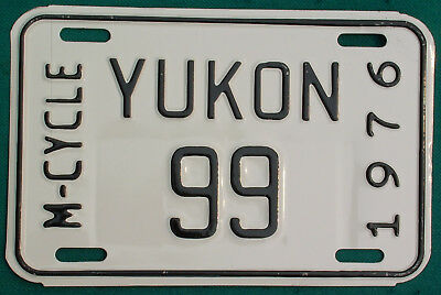 1976 Yukon  MOTORCYCLE  license plate