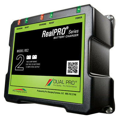 Dual Pro RealPRO Series Battery Charger - 12A - 2-6A-Banks - 12V/24V MFG# RS2