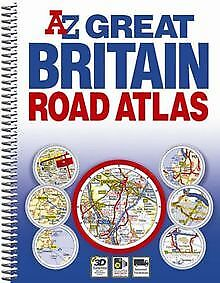 Great Britain Spiral Road Atlas by Geographers' A-Z M... | Book | condition good