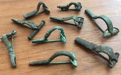 Roman  ancient brooches fibula artifacts 1-3 century AD