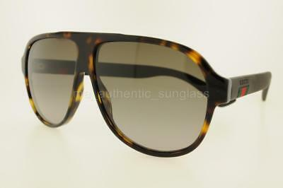 081ef51f546ba Gucci Gg0009S 003 59 Mm Gg0009 s Green Havana Frame With Brown Gradient  Lenses
