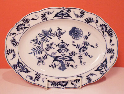 """Japan BLUE DANUBE 12"""" Oval Platter EXCELLENT CONDITION Serving Plate Dish Tray"""