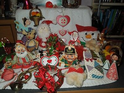 Vintage Lot of 30 Christmas Items/ decorations / Ornaments
