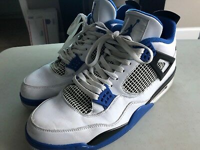 buy popular caa56 4cb79 Nike Air Jordan Retro 4 Motorsport Size 13 (308497-117) White Game Royal