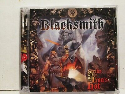 Blacksmith - Strike While The Iron's Hot 2011 Heaven Hell Records CD/DVD Rare
