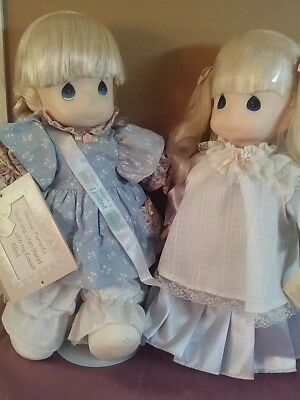 """Precious Moments LE 16"""" """"AMY"""" Doll and 15"""" Blue """"MISSY"""" Doll """"Love is Kind"""""""