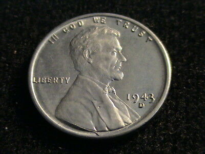 1943 D Lincoln Wheat Steel Cent, wartime cent, uncirculated  *Reduced*  L148