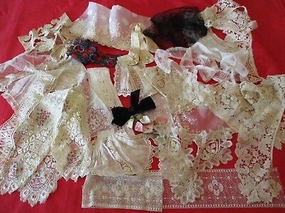 Lovely Lot Of Vintage Victorian Lace Trims Good For Costumes Dolls Scrapbooks