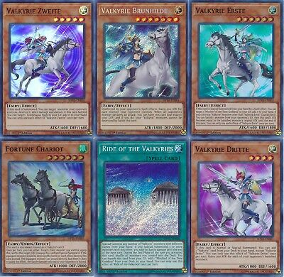Zigfried Complete Deck - Ride of the Valkyries -  Valkyrie Brunhilde - Yugioh NM