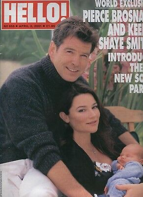 Hello! #656 Pierce Brosnan Paul Stacy Young Kevin Costner Claire Sweeney Twiggy
