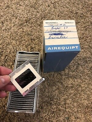 """Vtg Airequipt Automatic Slide Changer holds 36 2x2 Slides  """"expo 1967"""""""