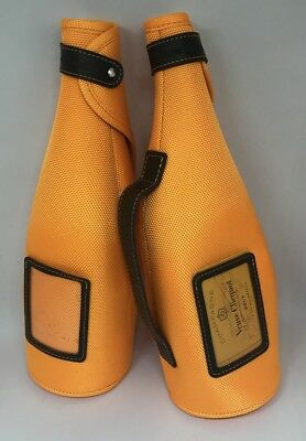 Lot of 2 Veuve Clicquot Champagne Bottle Travel Carry Bag Jacket Cover Sleeves