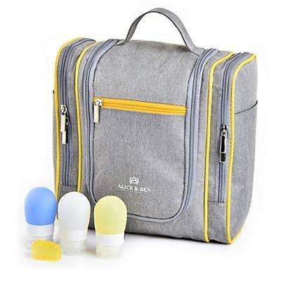 Hanging Toiletry Bag – Large Travel Toiletries Organizer with Strong Metal Hook,