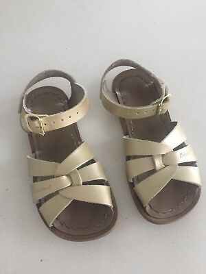 Girls SALT WATER sandals Size 11 GOLD