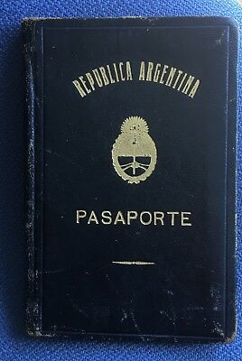 1959 Argentina Old Passport expired cancelled with original tax stamps and visas