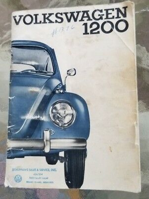 August 1964 Edition VW Volkswagen 1200 Instruction Manual Sedan and Convertible