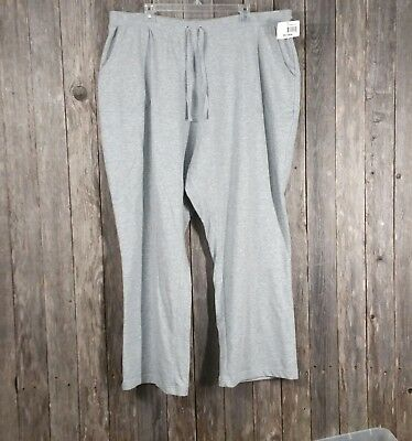 5201455623901 Just My Size JMS Womens Knit Pants Size 26 28W Gray Pull On Elastic Waist  NWT