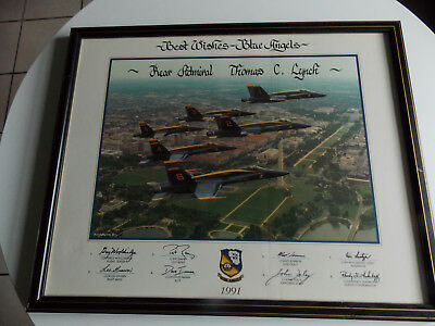 Blue Angels Flying In Formation Over Washington Dc. - Admiral Lynch