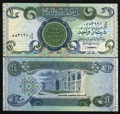 IRAQ 1 DINAR P69 1979 10 BUNDLE Full Brick COIN SCHOOL SWISS UNC 1,000 PCS NOTE