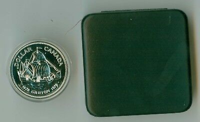 1979 Canada Cased Silver Dollar Griffin Ship Mint In Box !
