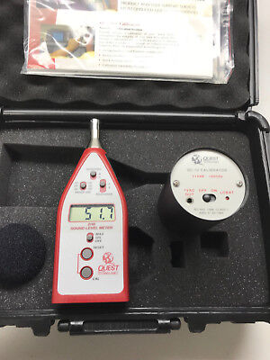Quest (3M) 2100 Sound Level Meter with Carrying Case and Calibrator