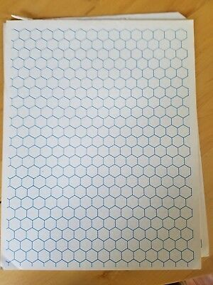 Dungeons and Dragons early 1980s Vintage Hex Pad mapping paper double sided