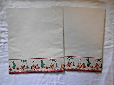 2 Pcs. Vintage Kitchen Shelf Paper with Mexican Motif Unused.