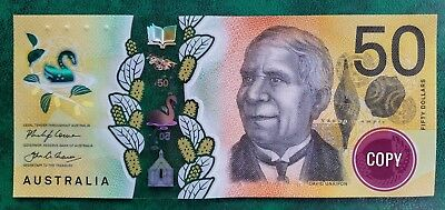 New 2018 $50 note Australia first day of issue mint uncirc DE prefix.Avail now