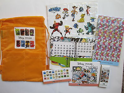 NEW Cathay Pacific Airlines Inflight Kids Disney Pixar Drawstring Bag Toys