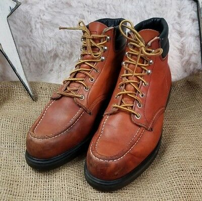 b7851f62906 VINTAGE RED WING 204 Moc Toe Super Sole Ankle Work Boots Brown Leather Mens  10C