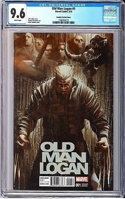 CGC 9.6 Old Man Logan #1 Mike Deodato 1:25 Variant New Case FS