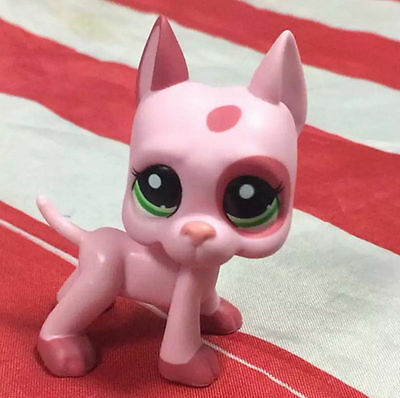2'' Dog Strawberry Mauve Pink Patches Green Eyes Littlest Pet Shop LPS633