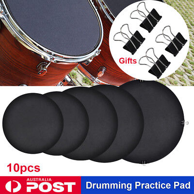 10x Bass Drums Sound off / Quiet Mute Silencer Drumming Rubber Practice Pad Set