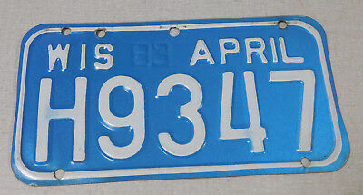 1983 Wisconsin motorcycle license plate