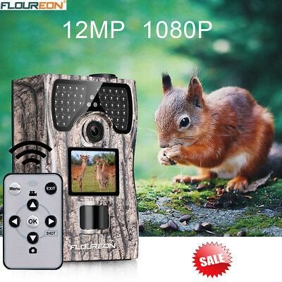 1080P 12MP Trail Hunting Camera Remote Control Full HD Night Vision Wildlife Cam