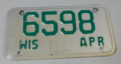 1994 Wisconsin motorcycle license plate