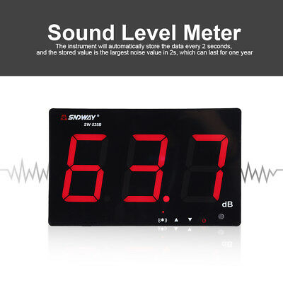 "9.6"" Digital LCD Display Wandmontiert USB Sound Level Meter Schallpegelmesser"