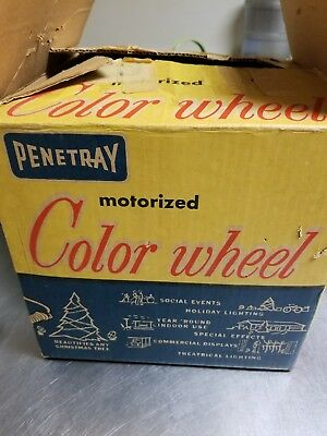 Vintage PENETRAY Motorized Rotating Color Wheel Lamp