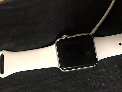 Apple Iwatch With Band Series 1 38mm Silver Needs Battery